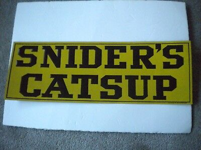 Antique Litho Embossed Tin Advertising SNIDER'S CATSUP CHAS. W. SHONK Co. #D1283