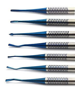 Dental Surgical Luxating PDL Precise Tip 7 Pcs Root Elevators Oral Surgery Tools