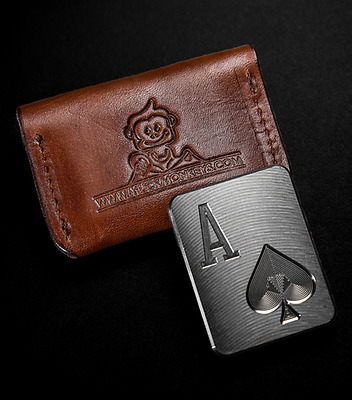 MuckMonkeys Poker Card Protector Casino Chip Ace of Spades - (((Case Included)))