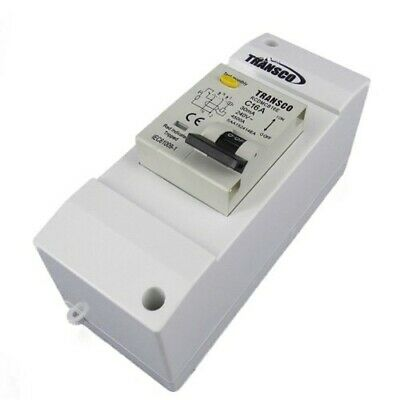 Safety Switch  Double Pole 10 Amp 4.5kA with 2 Module Enclosure Caravan RV