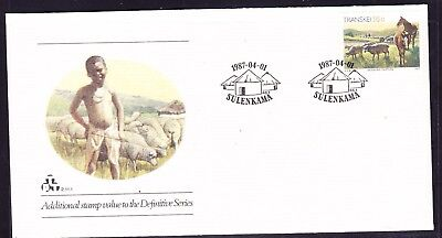 Transkei 1986 - 16c Pastures Additional Issue First Day Cover 2.11.1