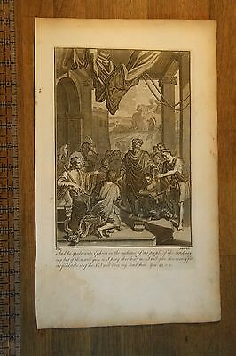 Burial of Sarah - Holy Bible Antique Original 1752 Stackhouse Engraved Print