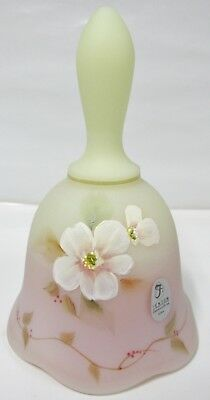 "7667NK Fenton Yellow Burmese 5 3/4""Tall handpainted BELL MINT Brand New w/ Box"