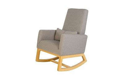 Nursery Rocking Gliding Chair in Timber & Dove Grey