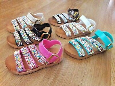 Baby Toddler girls Jelly flexible colorful sandals shoes size 6-9