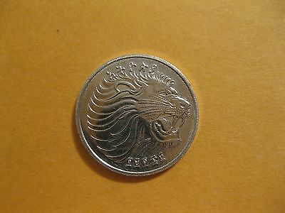 """1977 Ethiopia coin 1 Cent  """" LION """"  Uncirculated beauty  animal   F.A.O issue"""