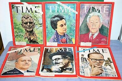 Lot of 6 Vintage TIME MAGAZINES Issues from 1966