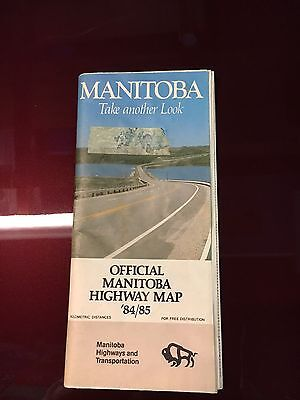 1984 Manitoba Road Map