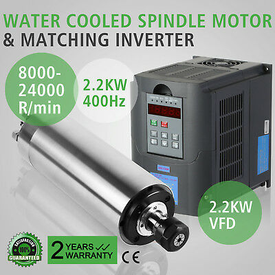 2.2Kw Water Cooled Spindle Motor 2.2Kw Vfd Variable Milling Mill Grind