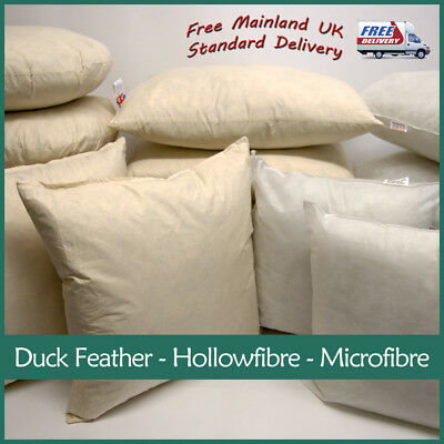 Hollowfibre Microfibre Cushion Inner Insert Pads Filler Scatter / Duck Feather