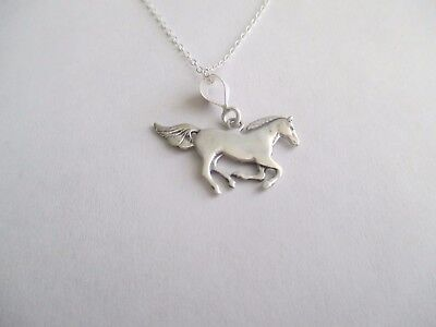 Horse Pendant and Chain...STERLING SILVER..Great Look..New