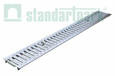 """Standartpark - Galvanized Stamped Steel Grate for 4"""" inch trench drain."""
