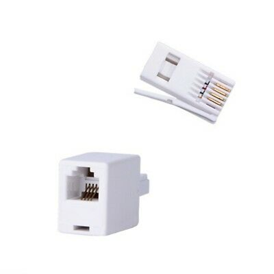 RJ11 to BT Plug Adaptor - Connect ADSL DSL Cable to BT Telephone Socket NEW