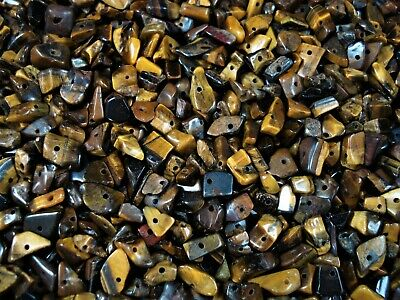 Gemstone Chips 50g Tiger Eye Loose Beads Jewellery Jewelry Beaded FREE POSTAGE