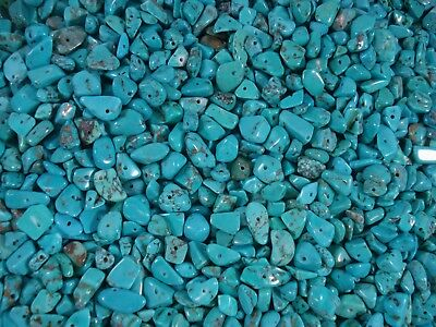 Gemstone Chips 50g Blue Turquoise Loose Beads Jewelry Semi Precious FREE POSTAGE