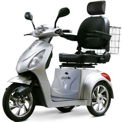 eWheels EW-36 Electric 3-Wheel Mobility Scooter - Silver -E-Wheels Scooter, New