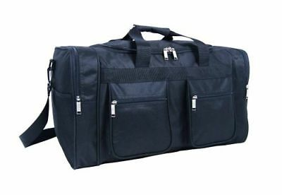 Large Compartment Net Pocket Holdall Business Travel Sports Luggage  Black Bag