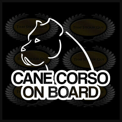 Cane Corso On Board Dog Car Window Sticker Decal Italian Mastiff Dog Lover