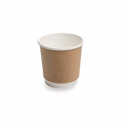 25-CT Disposable Kraft 4-OZ Hot Beverage Cups with Double Wall Design: No Need