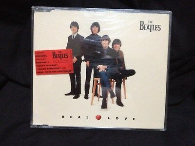 The Beatles Real Love Very Rare 4 Track Cd Australian Version With Sticker Of