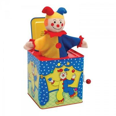 NEW Traditional Musical Tin Jack in The Box - Jester - Nursery Toy - Schylling