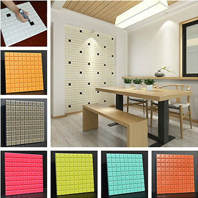 3D Wall Sticker DIY Coulor Self Adhesive Wallpaper TV Background Home Decor