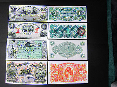 Old Guatemala notes Comite Bancario Nacional Colombiano Agricola Reproductions