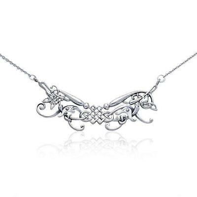 Celtic Knotwork Sterling Silver Necklace by Peter Stone Jewelry