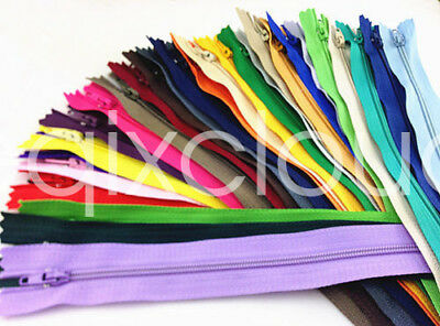 DIY MIX 30/150/300pcs Nylon Coil Zippers Tailor Sewer Craft 7 Inch Crafter's
