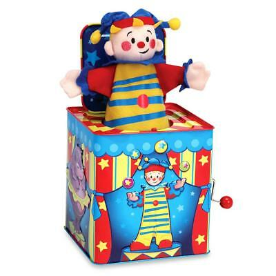 NEW Traditional Musical Tin Jack in The Box - Silly Circus Clown - Schylling