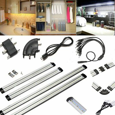 30/50cm LED Under Cabinet Strip Light Touch Switch/Plug /Connector Home Kitchen