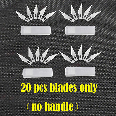 20pcs Blades #11 Exacto Knife Style x-acto Hobby For Multi tools Crafts cutting
