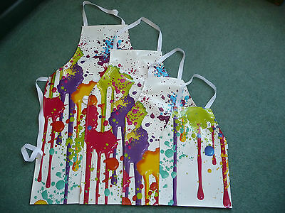 Paint Splat Pvc Aprons In 4 Sizes  Made To Order