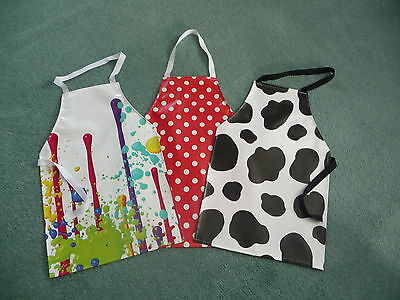Childrens New Pvc Aprons Full Body To Fit  4Yrs To 8 Yrs Approx