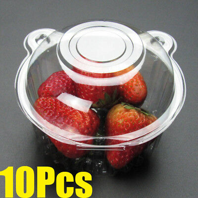 Hot Clear Plastic Cupcake Cake Case Muffin Pod Dome  Box Container YECL 10Pcs
