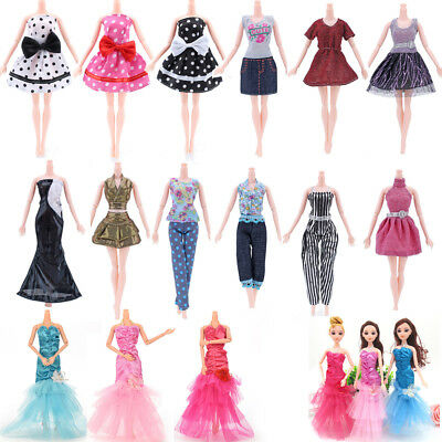 1/5pcs Handmade Princess Doll Dress Noble Party Gown For Barbie Doll Clothes