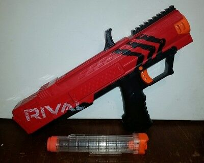 Nerf Gun Blaster Rival Apollo Red Xv700 7 Round Magazine Tactical Rail Safety
