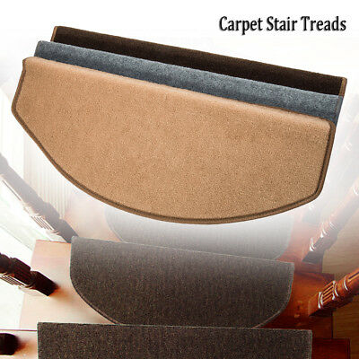 15Pcs Non-Slip Mat Stair Carpet Treads Runner Rug Cover Car Boot Cut Pads