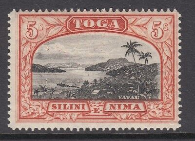 TONGA  1942-49 - 5/ black and brown red - Sg82 - Unmounted mint