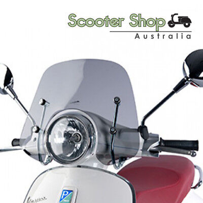 Genuine Vespa Primavera Smoked Sports Windscreen Fits 50cc, 125cc, and 150cc