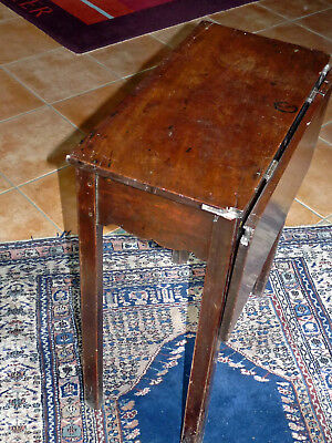 Georgian Mahogany drop leaf side table ,C 1770, lovely colour Mahogany Top.