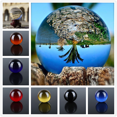 120mm Colorful Clear Magic Crystal Ball Sphere Glass Decorative Ball Photo Props