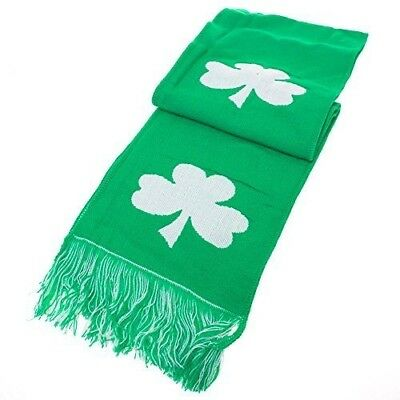 Celtic Shamrock Scarf Winter Mens Womens Parade Clothing Party Lucky Irish Green