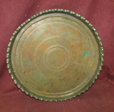 Antique Middle Eastern Tinned Copper Tray