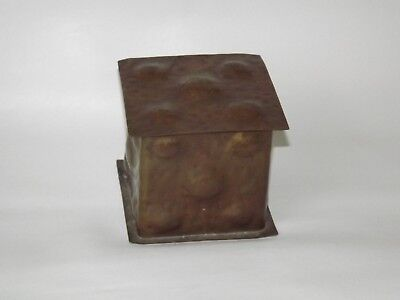 Period Arts and Crafts Hammered Copper Humidor Warty Texture