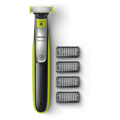 NEW Original PHILIPS ONE BLADE Electric Shaver Trimmer Styler 4x Combs Wet & Dry