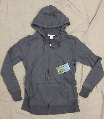 Motherhood Insect Shield Womens Maternity Charcoal Gray Hoodie Jacket SZ S ~ New