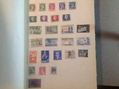 Canada used stamps collection