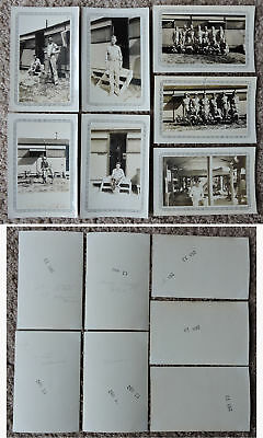 Wwii Army At Barracks Lot Of 10 Original Bw Photos, Some Men Ided On Back