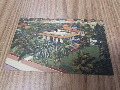 Vintage - Home Of Ernest Hemingway - Key West  Florida - Postcard
